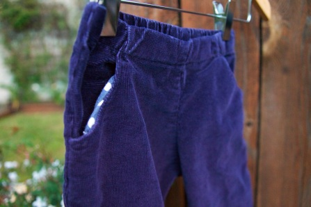 blue pants in the garden