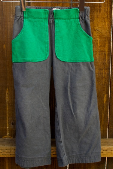 green pocket pants