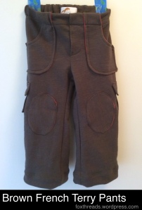 Brown French Terry Pants
