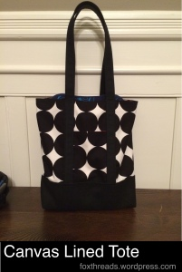Canvas Lined Tote