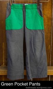 Green Pocket Pants