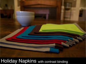 colorful holiday napkins