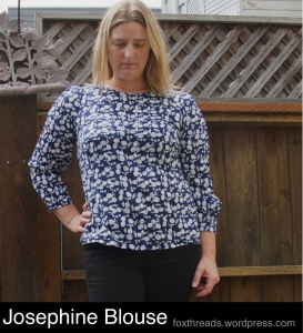 Made-by-Rae Josephine blouse in printed cotton lawn