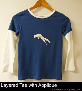 Layered Tee with Applique