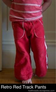 Retro Red Track Pants_make