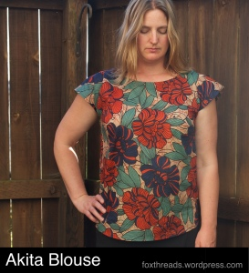 Fall Sewing #2: Akita Blouse