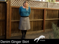 denim Colette Ginger skirt