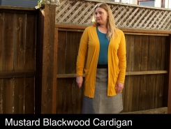 mustard Blackwood cardigan