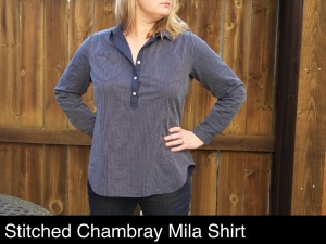 stitched chambray Mila shirt